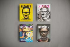 Hipster Magazine 1 / 2 / 3 / 4 issues. on Editorial Design Served #hipster #editorial