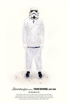HE WEARS IT 02 #wars #illustration #john #star #fashion #woo