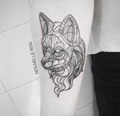 Artistic and Geometric Animals Tattoo Design #Tattoo #body art #ink #Tattoo art