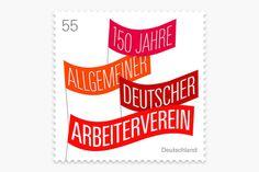 Optik — Briefmarken-Entwürfe - 150 Jahre Allgemeiner Arbeiterverein #stamp