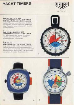 Heuer Catalog #retro #stopwatches #heuer