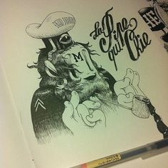 Instagram #ink #mcbess #illustration #pen #and