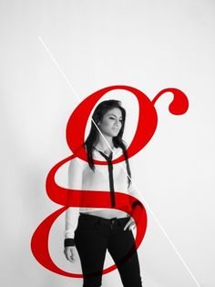 tumblr_lzgdkhtx691qjujz0o1_1280.jpg (1280×1707) #graphic design #girl #typography #layout #print design #red #letter forms