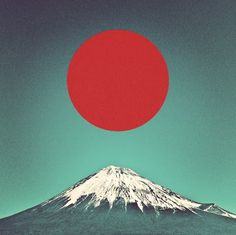 Mount Fuji http://tasekai.tumblr.com/post/75719066507 #mount #fuji #mountain #design #graphic #landscape #photography #art #japan