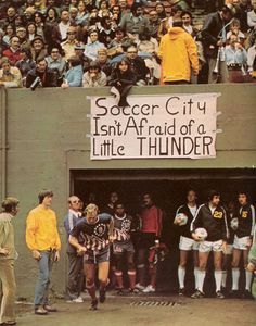 """xiquarterly:""""Soccer City isn't afraid of a little thunder."""" The Portland Timbers welcome Bobby Moore and the San Antonio Thunder in 19 #moore"""
