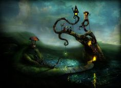 Mystical Illustations by Alexander Jansson   Cuded #mystical #jansson #alexander #illustations