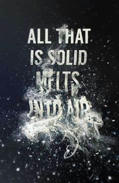All that is solid melts into air on Behance #typography