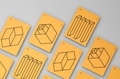 delve branding logo minimal corporate design by moniker featured mindsparkle mag yellow print business card geometry geometric icon lines bl
