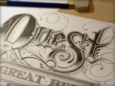 Quest #lettering #draw #illustration #pencils #hand #sketch