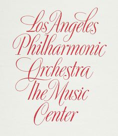 Doyald Young, detail of engraved lettering for the Los Angeles Philharmonic in  The Art of the Letter , Smart Papers, Hamilton OH, 2003, 10