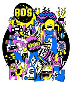 80's illusion on Behance #illustration #80s