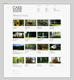 Cass Sculpture Foundation #site #design #website #grid #layout #web