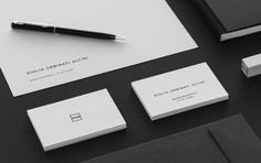Giulia Urbinati Altini / Personal Brand Business Cards - Stationery tags: brand, personal brand, logo, social media, black and white, minim
