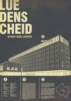 Lüdenscheid – Rathaus (2011) #rathaus #white #collection #print #retro #graphic #black #a87 #info #vintage #poster #and #geography #series #ldenscheid