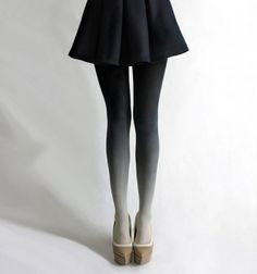 gradient tights #white #tights #black #gradient #fashion #ombre #leggings