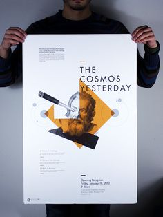 Space 101 Conference on Behance #print #design #beard #orange #poster #typography