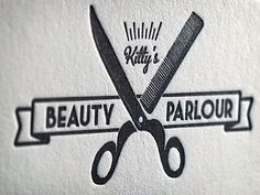 Kitty's Beauty Parlour #beauty #parlour #parlor #typography