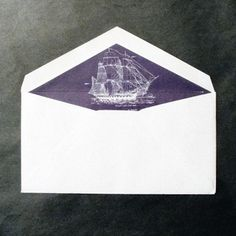 S€LF-MAD€ #envelope #boat