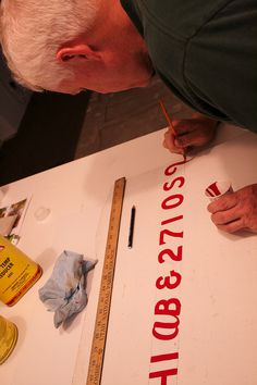 Hand Lettering with Kerry Jensen Retired Sign Painter | Flickr - Photo Sharing! #lettering #typography #sign #sign painting #kerry jensen #p