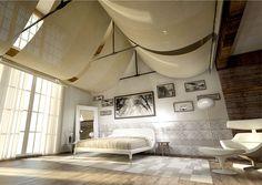 Leather Tiles That Wraps Gently the Bedroom - #bedroom, #interior, #decor, #floor,