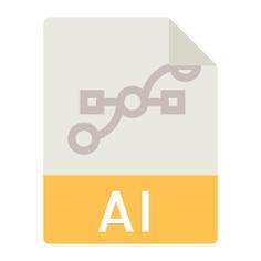 See more icon inspiration related to AI, adobe illustrator, ai file, adobe illustrator file, interface, ai file format, ai symbol and ai format on Flaticon.