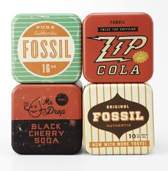 Hand Drawn by Hand #packaging #retro