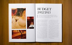 Budget_spread_3 #design #annual #photography #report #layout #typography