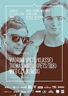 Viadrina x Thomas Wirski x M. Czajkowski w Sopocie #poster #layout #blue #cyan
