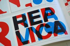 Replica by Norm Type Specimen | Flickr - Photo Sharing! #type #overprint
