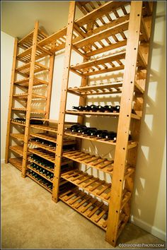 Wooden wine rack #wood #rack #wine