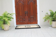 "Estate Extra Thick And Durable Anti Shred Monogrammed Double Doormat - Create your own style with this decorative Border Coco Fiber Door Mat. Durable and beautiful, this mat keeps shoes clean to protect your floors from mud, dirt and grime. It is flexible, robust and durable. This mat provides exceptional brushing action on footwear with excellent water absorption. Specification - Monogrammed Double Doormat with (O-Letter). Product Dimensions - *36"" x 72"" x 1.5"""