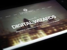Dribbble - Digital Wizards by Ben Garratt #photography #typography