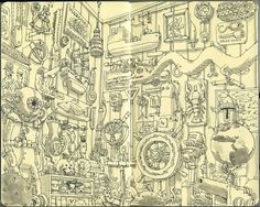 Moleskine Sketches by Mattias Adolfsson | Best Bookmarks #moleskine #boat #sketch