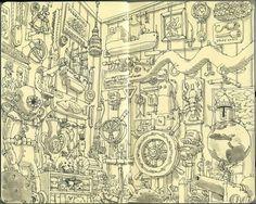 Moleskine Sketches by Mattias Adolfsson | Best Bookmarks