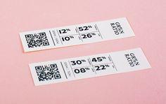 Francesco Bianchi | Branding | Green Ratio on Behance #branding #packaging #brand #gradient #sticker #cup #wordmark