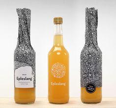 Epleslang Apple Juice — The Dieline #packaging design #inspiration #juice #apple