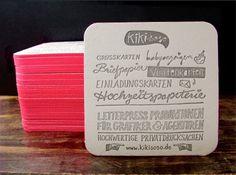 Simple letterpress card #type #hand