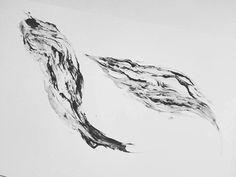 www.larabispinck.com #waves #abstract #illustration #larabispinck #ink #acrylcolor #blackwhite #art #structure #marble #pattern