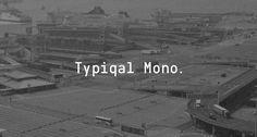 Typiqal Mono — Temple #monospaced #elegant #typeface #typography