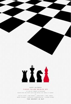 Creative Review - Posters for Tinker Tailor Soldier Spy by Paul Smith #chess #movie #smith #print #poster #paul