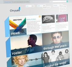 CHRYSALIS - WEBSITE on the Behance Network #based #design #grid #wordpress #blue #web #grey