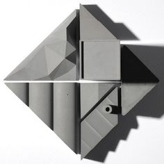 Tangram City Sculpture Puzzle #concrete #sculpture #architecture #puzzle