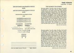 Specimen of Times New Roman font #type #specimen #typography