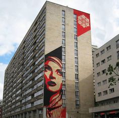 Obey Giant - FROM THE ARCHIVES - Photo by: Matthieu Soudet #illustration #street art #mural