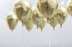 ballons, gold