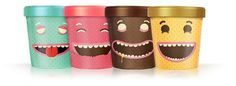 Yummy Ice Cream #packaging #illustra #illustration #face