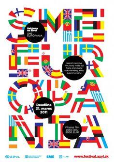 Sme Európania — Design | Urtd #flags #poster