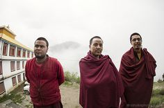 Three Young Monks #photojournalism #monks #lal #india #travel #photography #portrait #keylong #himachal #rahul