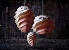 Swirl lamp light and delicately by Le Klint/ www.homeworlddesign.com #lighting #lamp