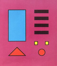 Shapes #red #pink #yellow #shapes #circles #black #triangles #blue